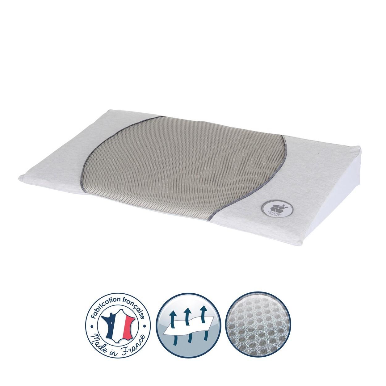 Plan incliné 15° air + pour lit 70x140 gris