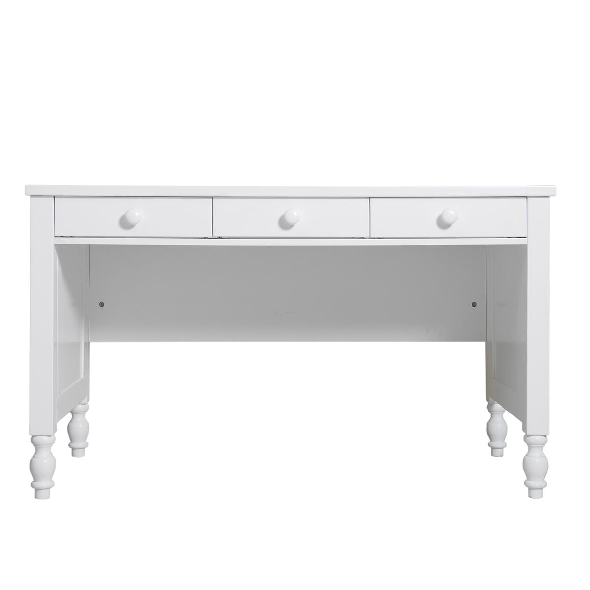 Bureau 3 tiroirs blanc