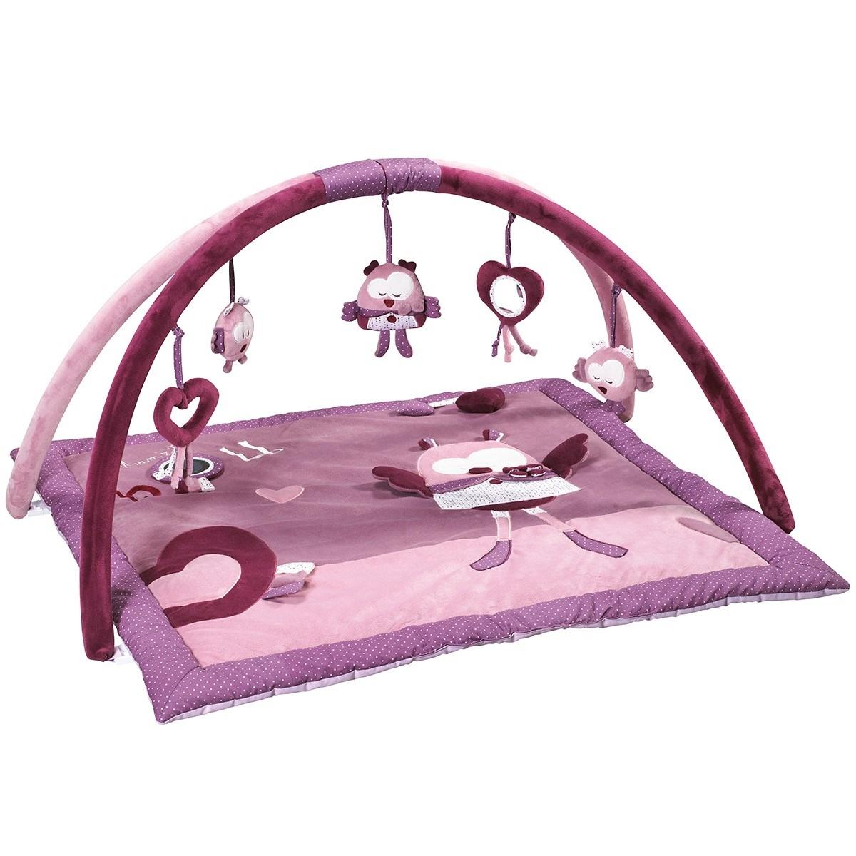 Tapis d'éveil bébé en velours rose