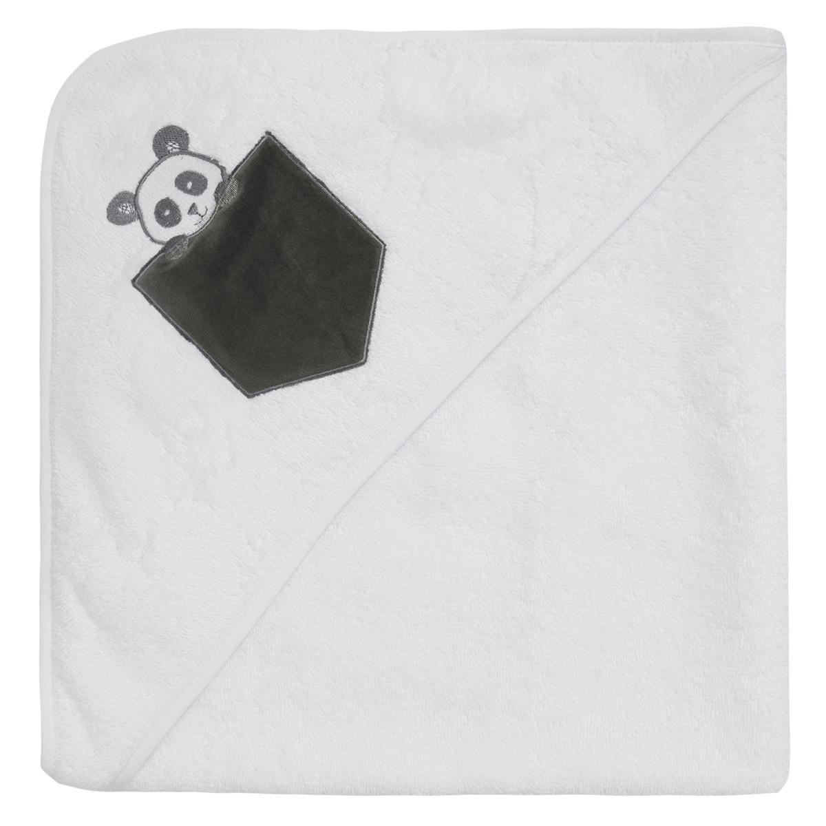 Cape de bain bébé  Blanc 75x75 cm