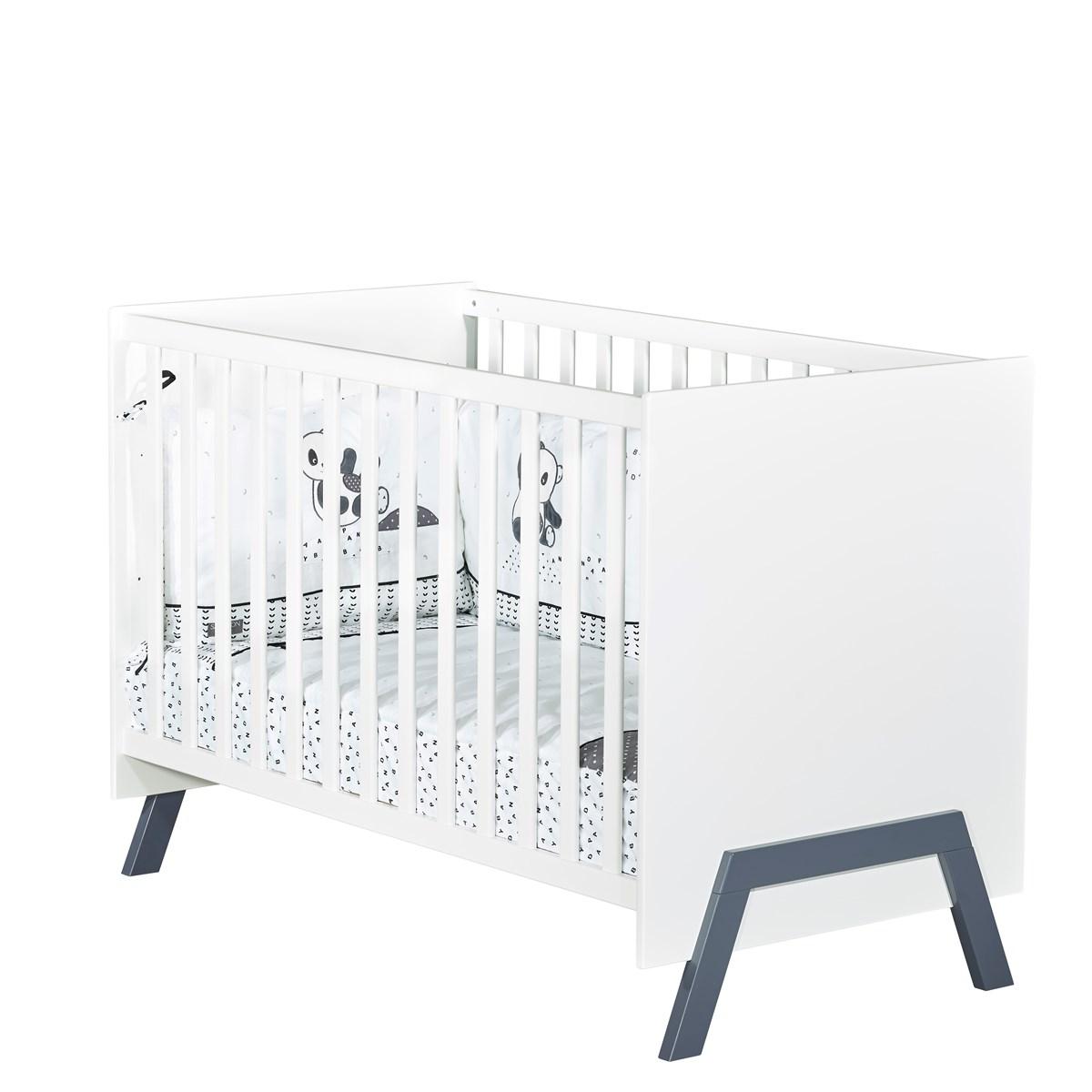 Lit bébé 120x60 en bois blanc