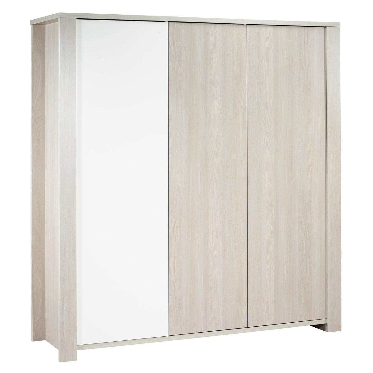 Armoire 3 portes en bois beige