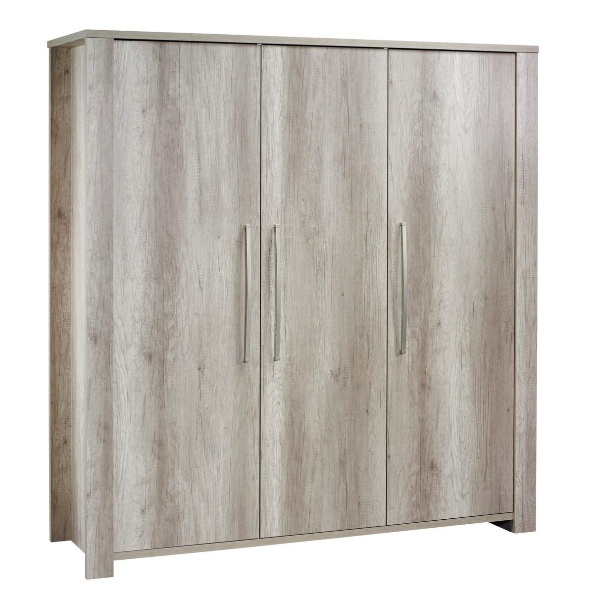 Armoire 3 portes en bois marron