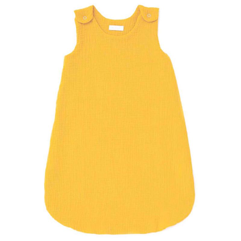 Gigoteuse été en gaze de coton moutarde (0-6 mois)