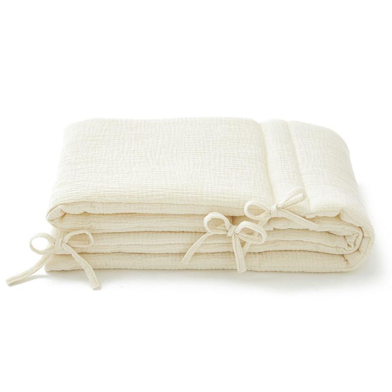 Tour de lit en gaze de coton ecru