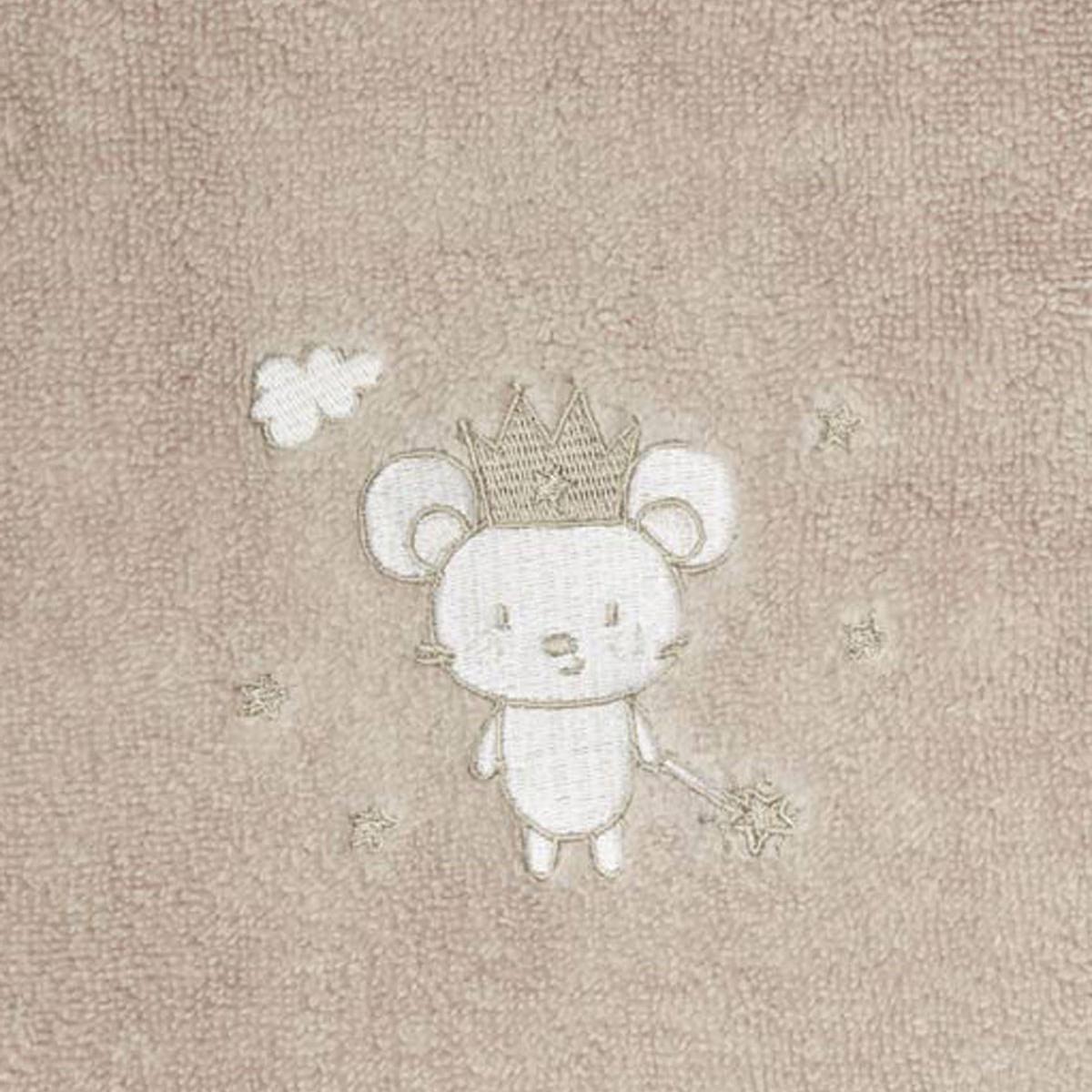 Drap de bain en coton peigné  Sable 70x130 cm