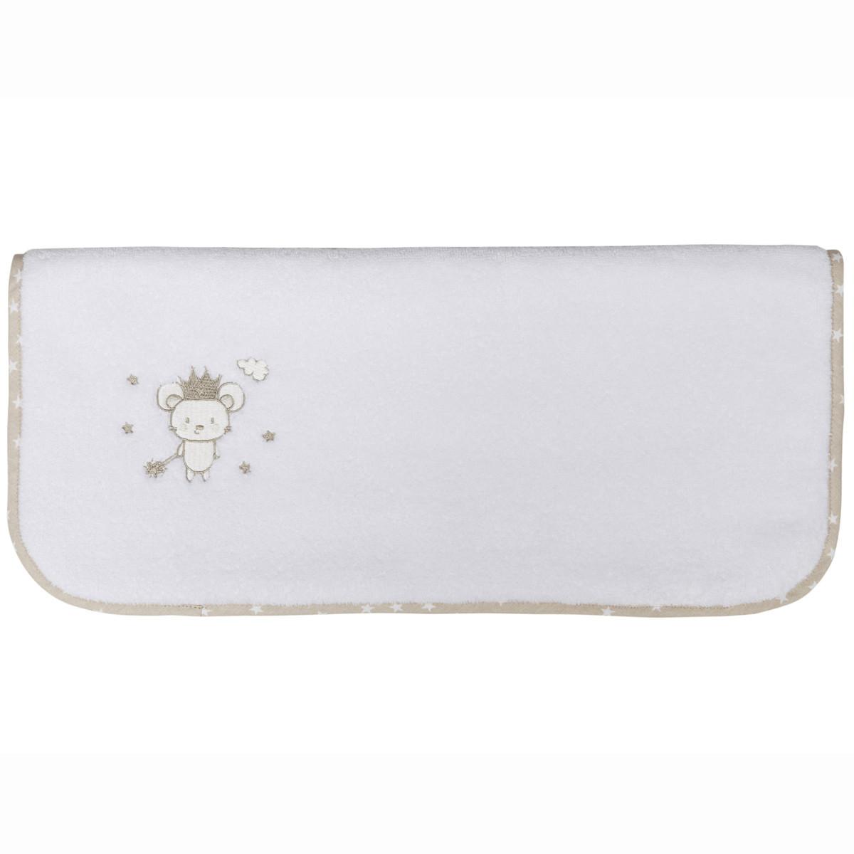 Serviette de toilette en coton peig Blanc 50x90 cm