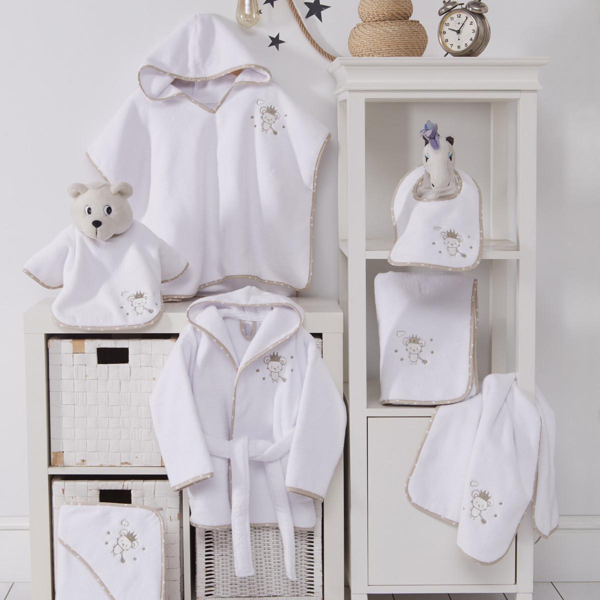 Drap de bain en coton peigné  Blanc 70x130 cm