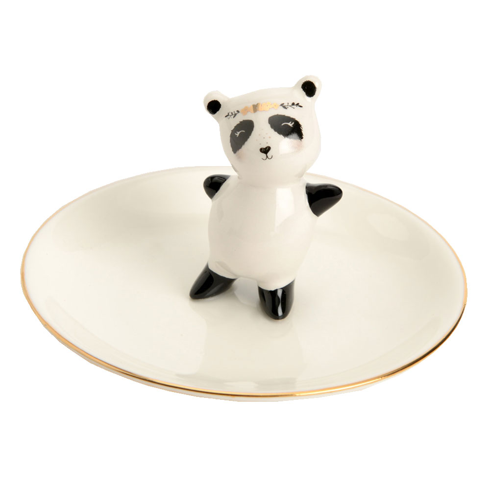 Statuette porte-bijoux panda