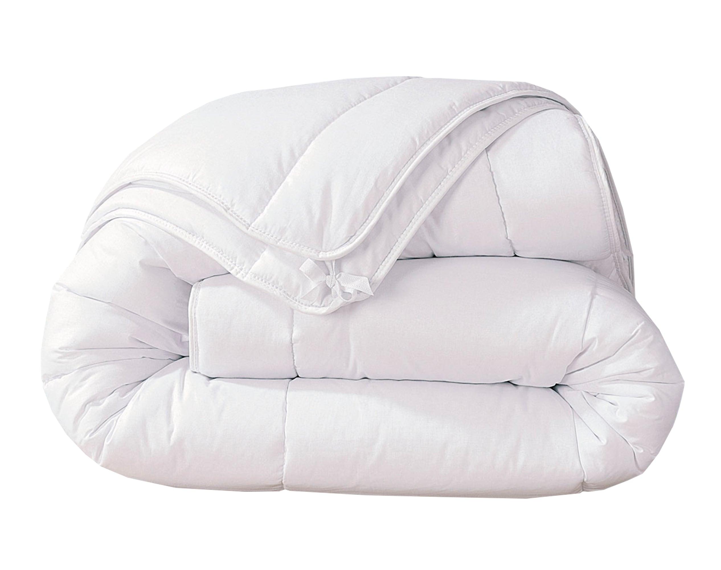 Couette 4 saisons 260x240 blanche en polyester 200+300 g/m²