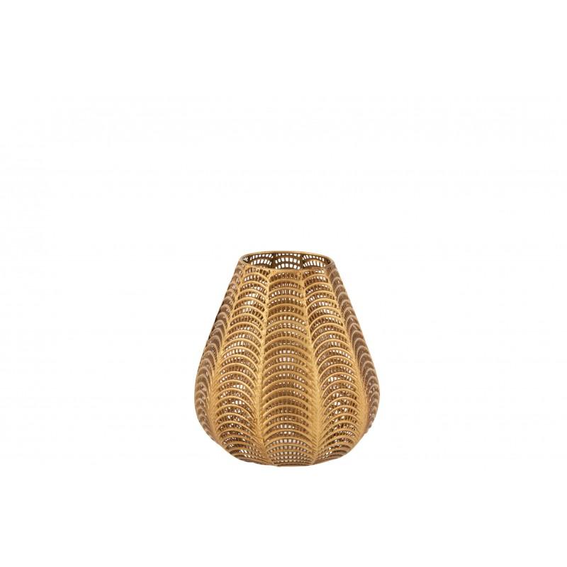 Bougeoir métal or H33,5cm