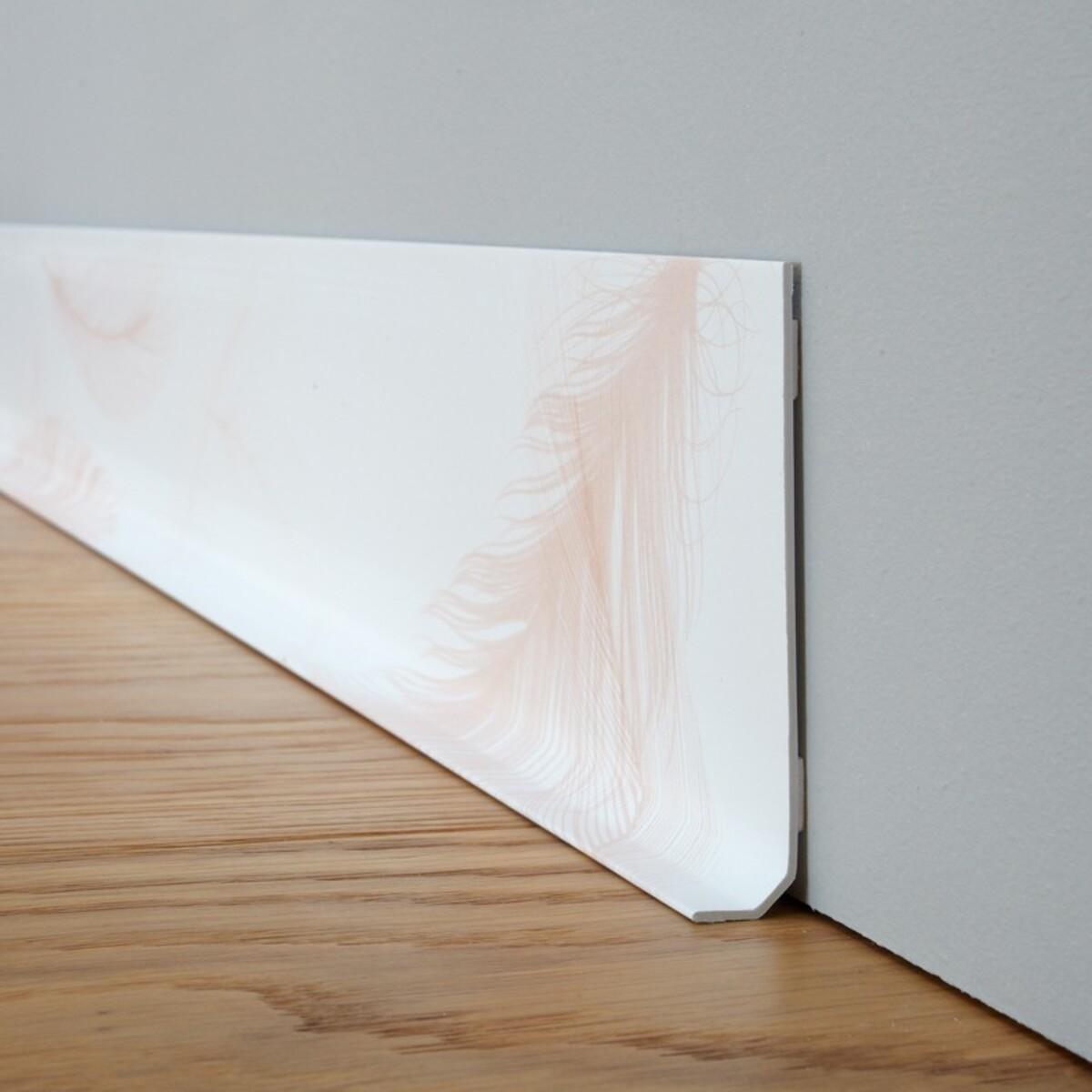 Lot de 25 plinthes PVC L100xH8cm