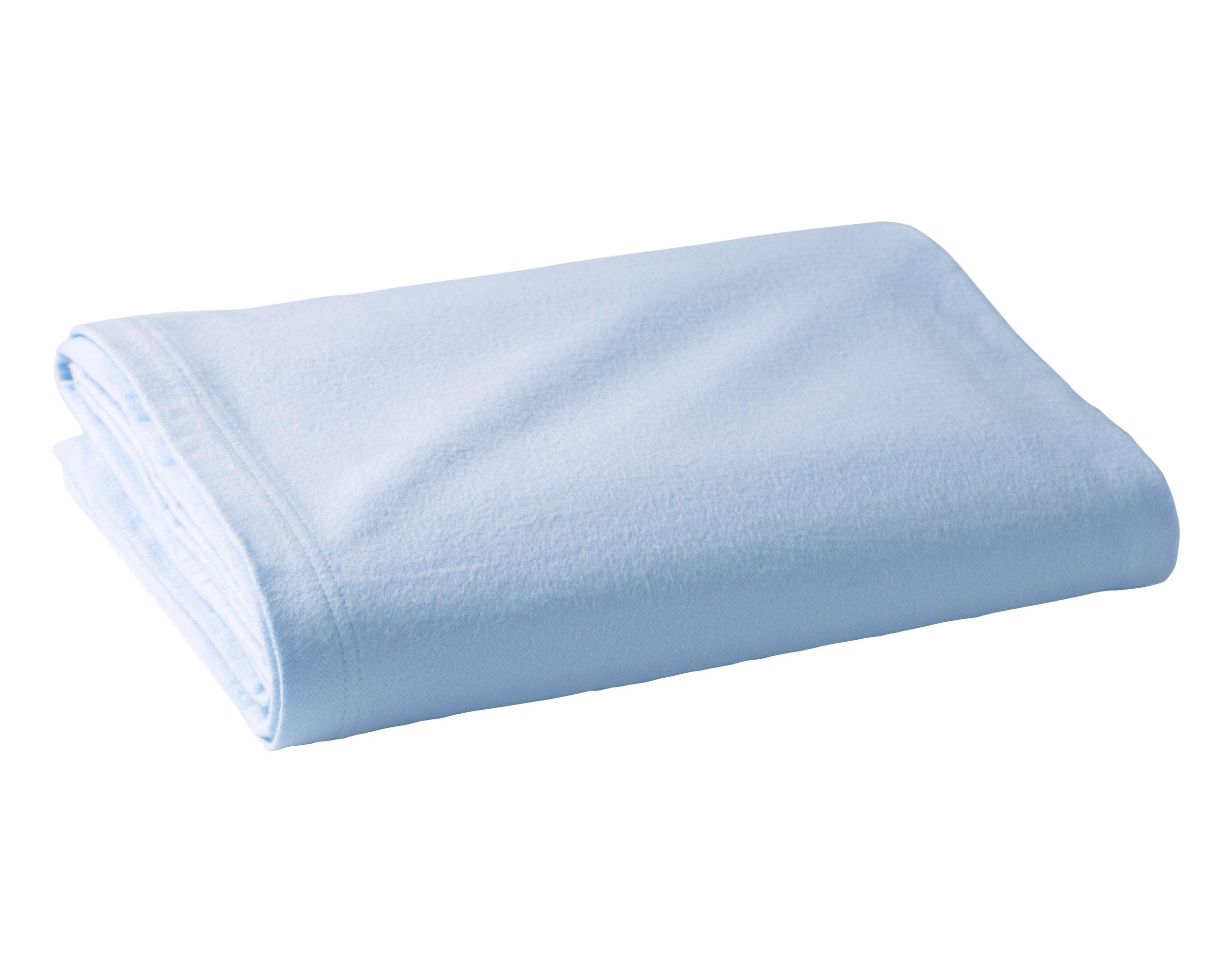 Couverture d'été 100x150 bleue en coton