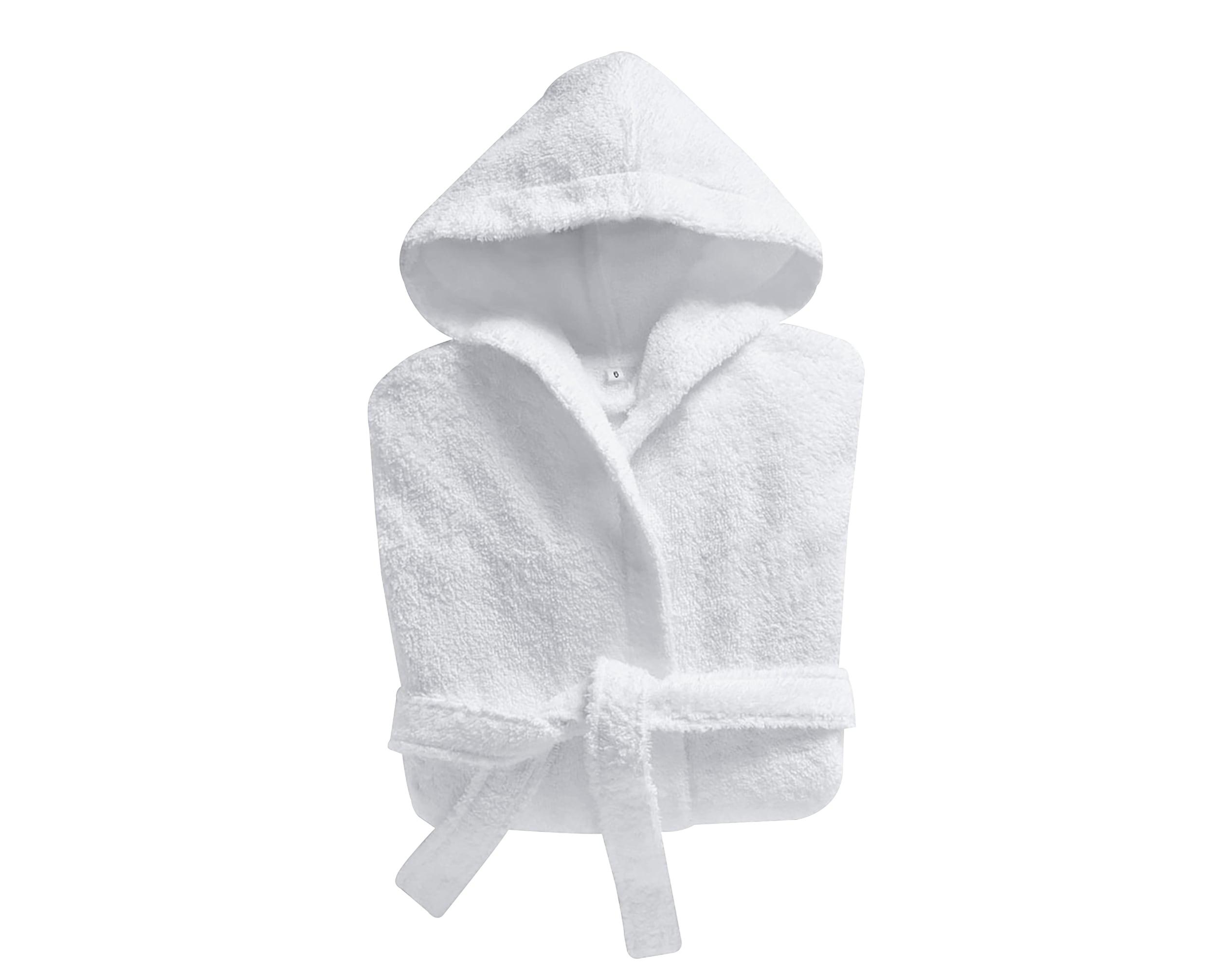 Peignoir enfant blanc 12 ans en coton