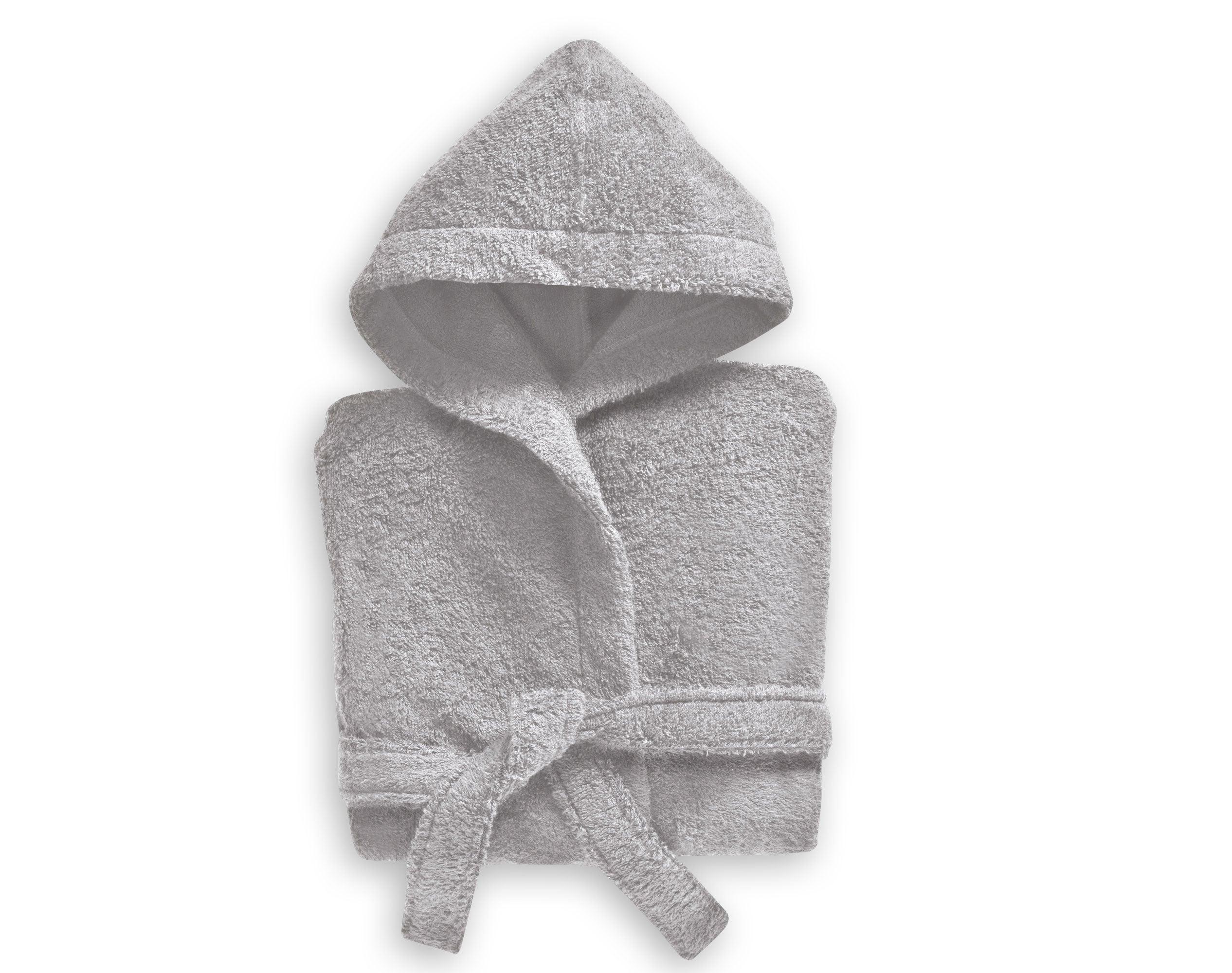 Peignoir enfant gris 12 ans en coton
