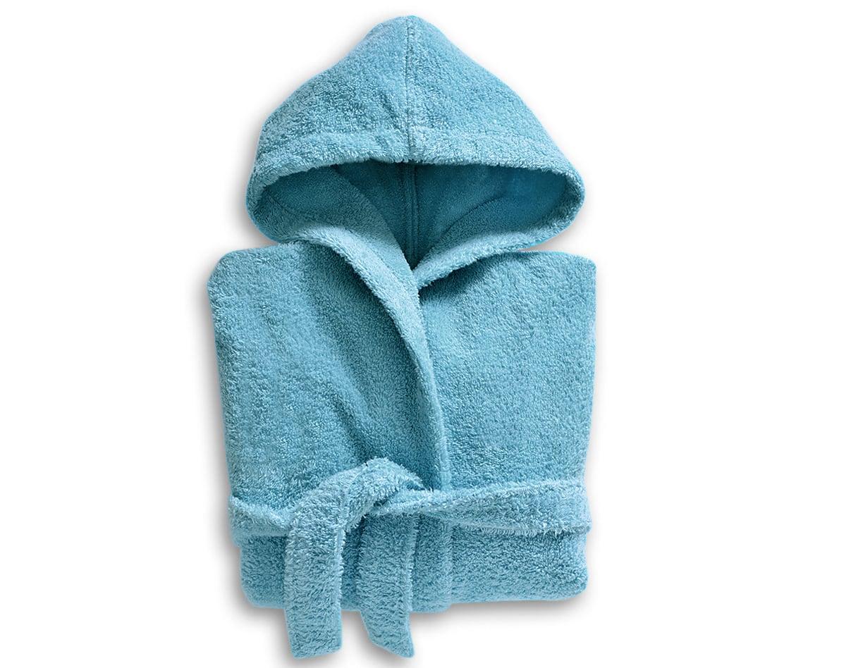 Peignoir enfant bleu 12 ans en coton