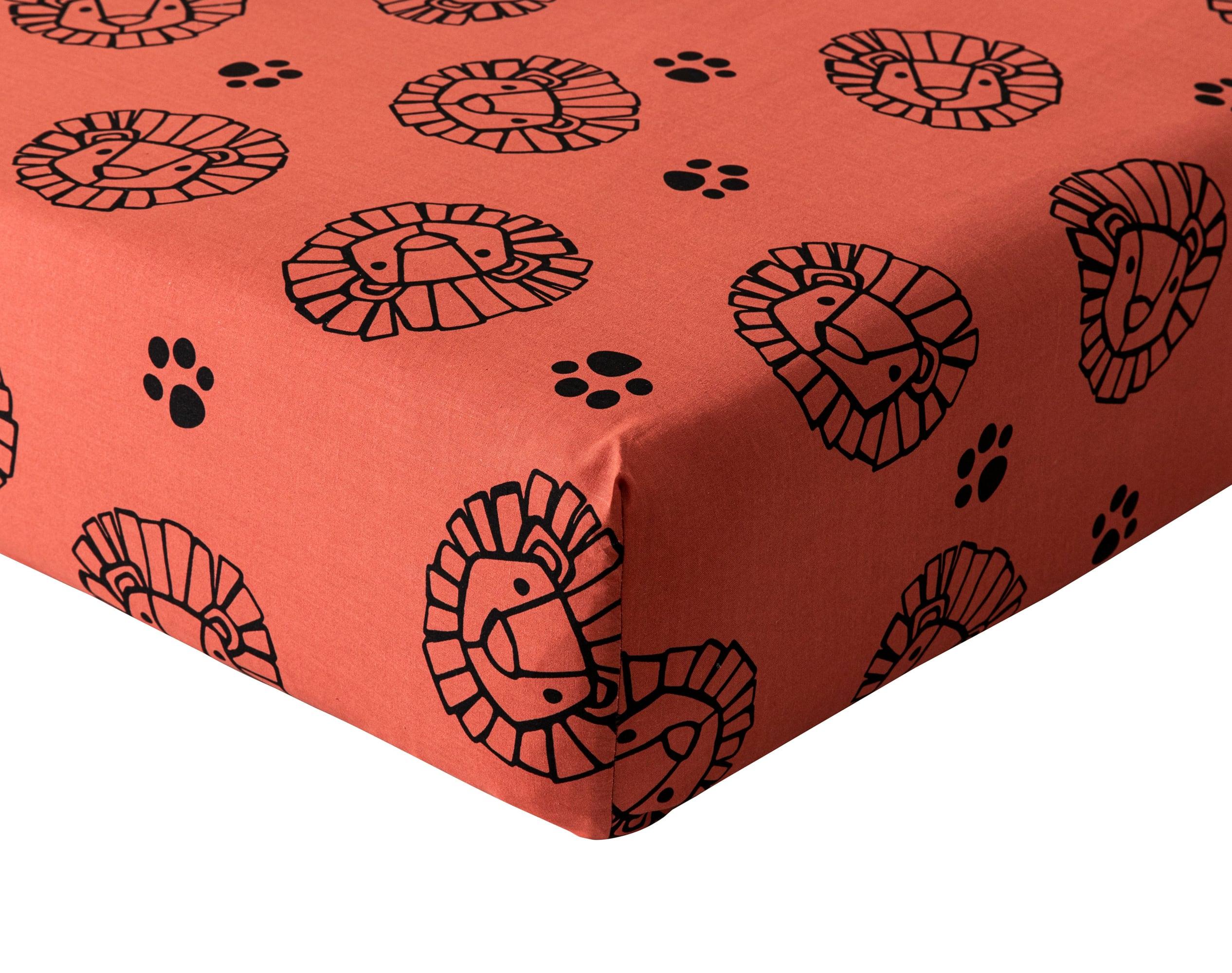 Drap-housse enfant 90x190 rouge en coton