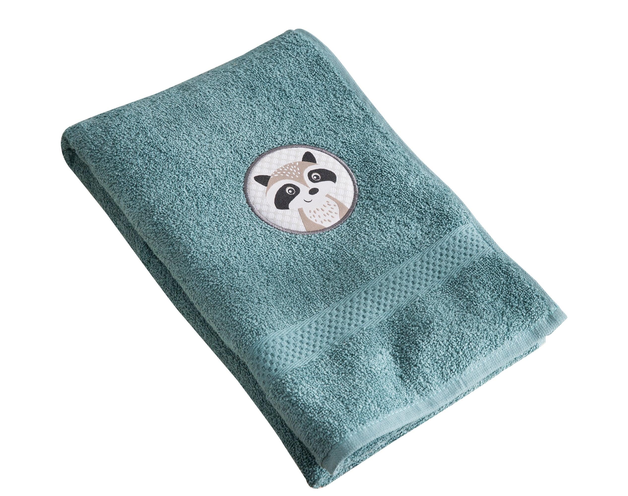 Serviette de bain enfant bleu 70x130 en coton
