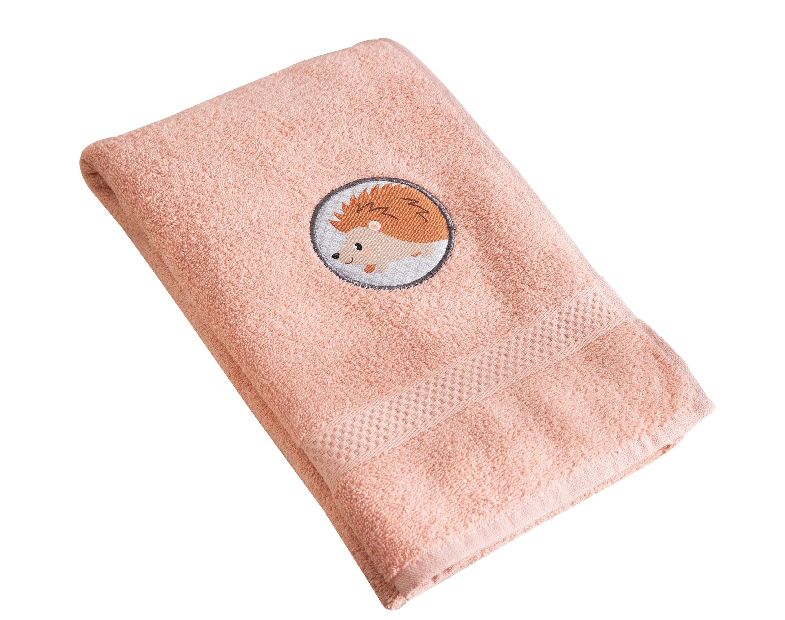 Serviette de bain enfant rose 70x130 en coton