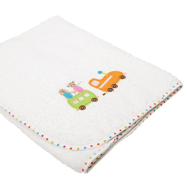 Serviette de toilette enfant coton blanc 75x75