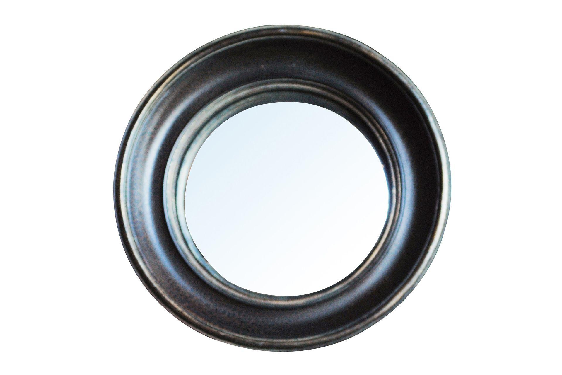 Miroir convexe en résine noir