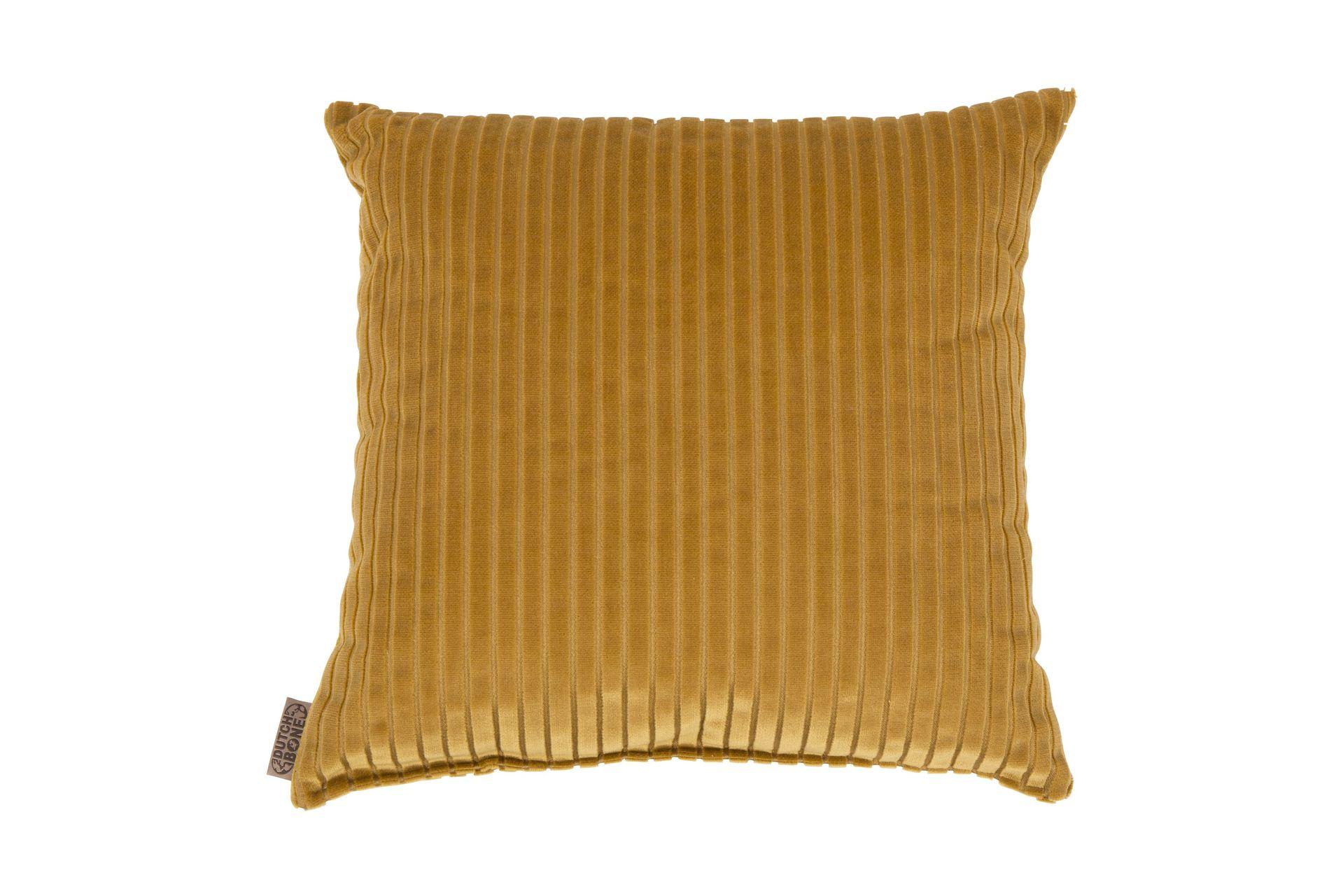 Coussin en tissu doré