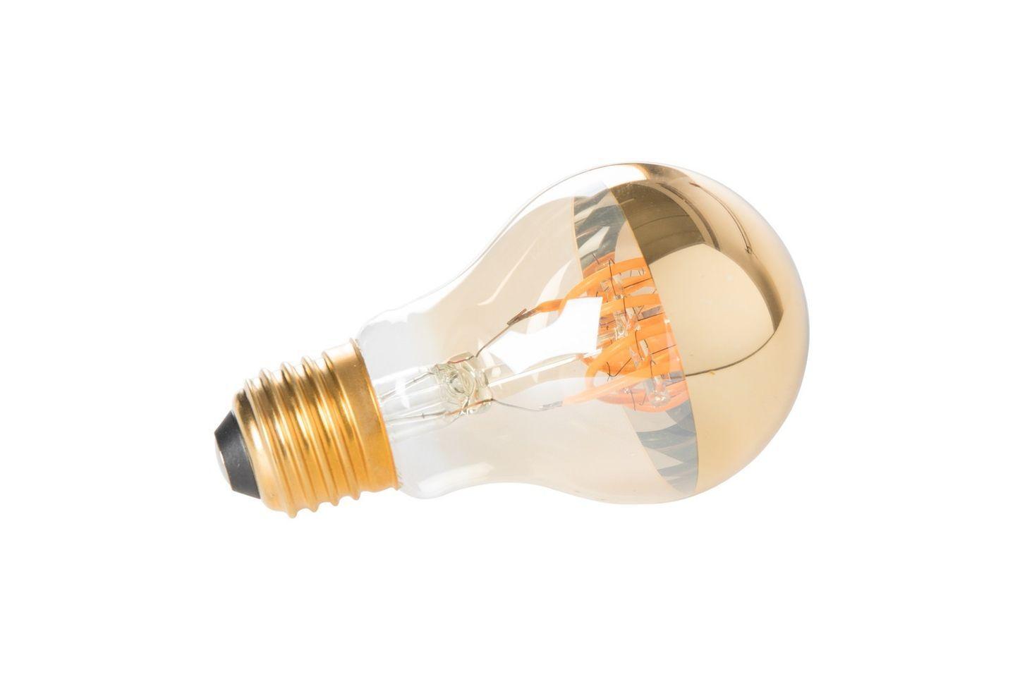 Ampoule LED E27 en verre transparent et effet miroir