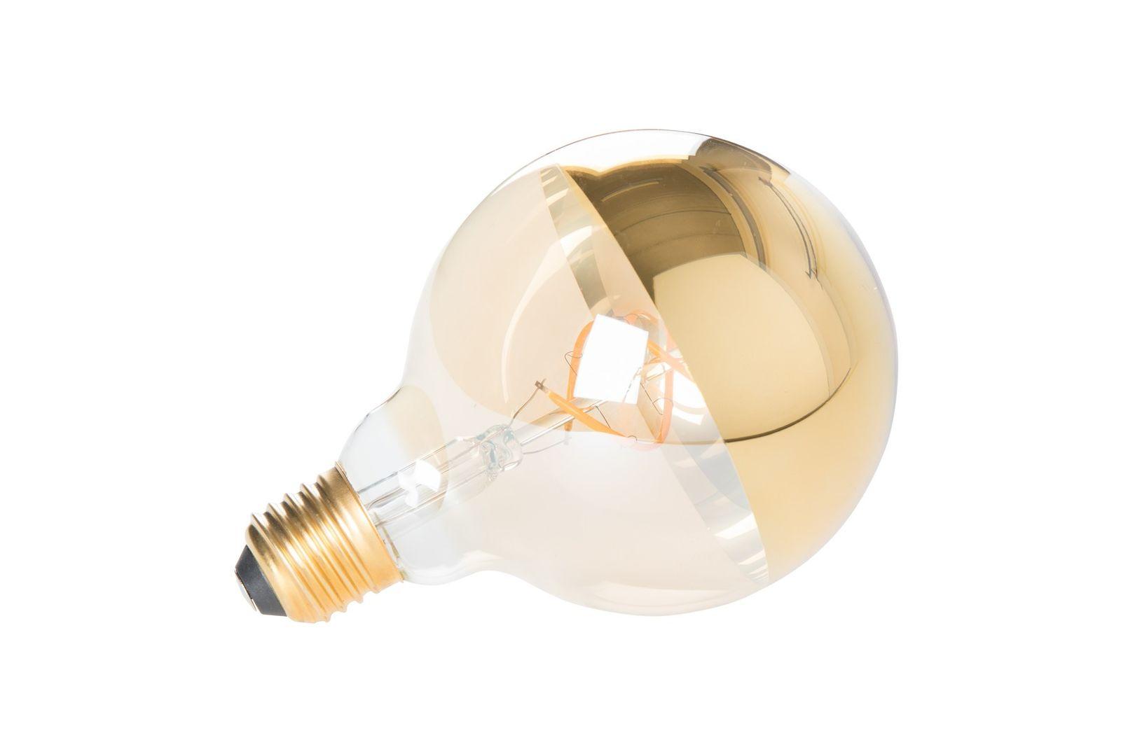 Ampoule LED E27 globe en verre transparent et effet miroir
