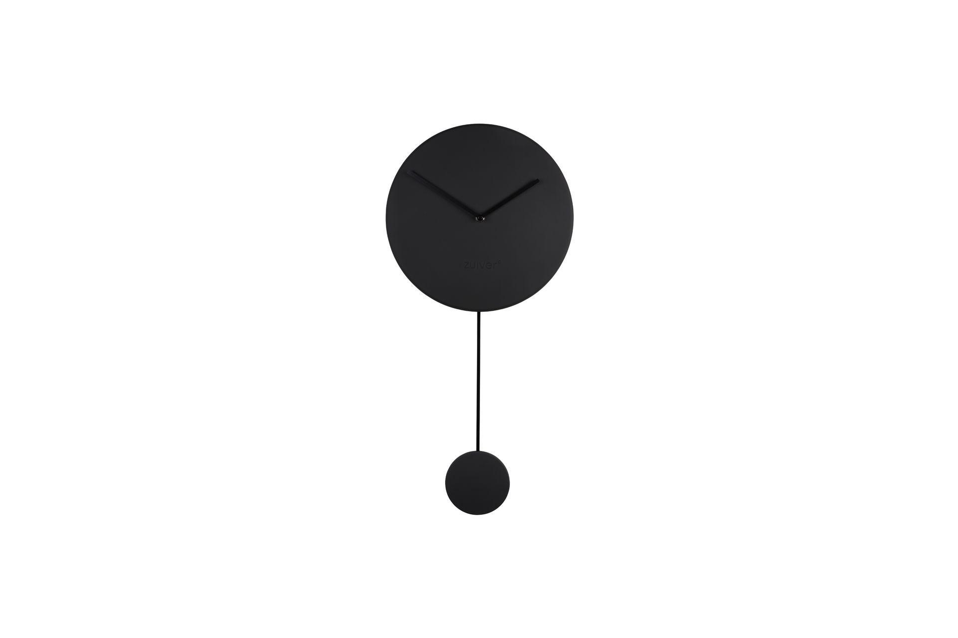 Horloge pendule aluminium noir