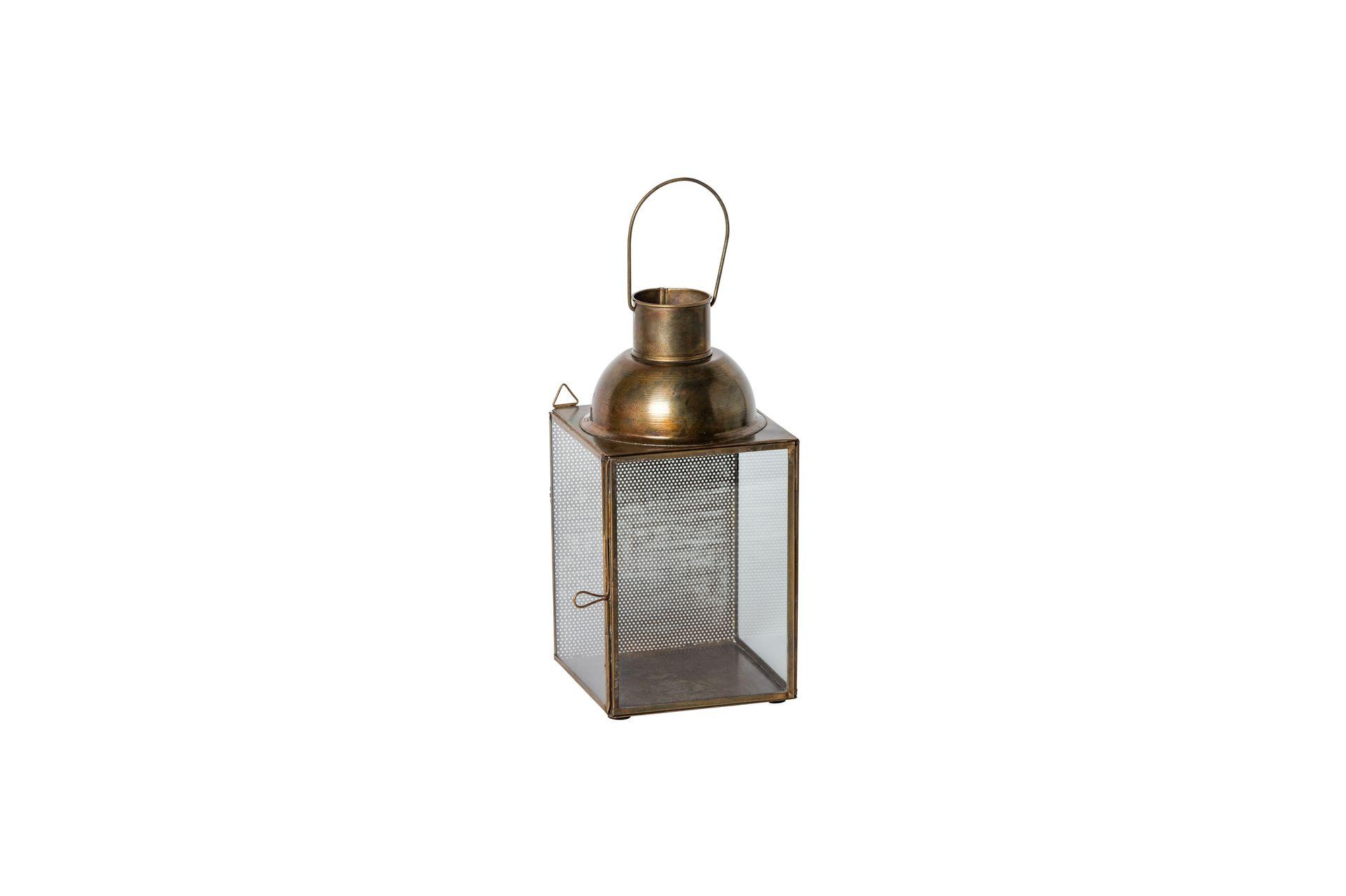 Lanterne à suspendre en laiton doré