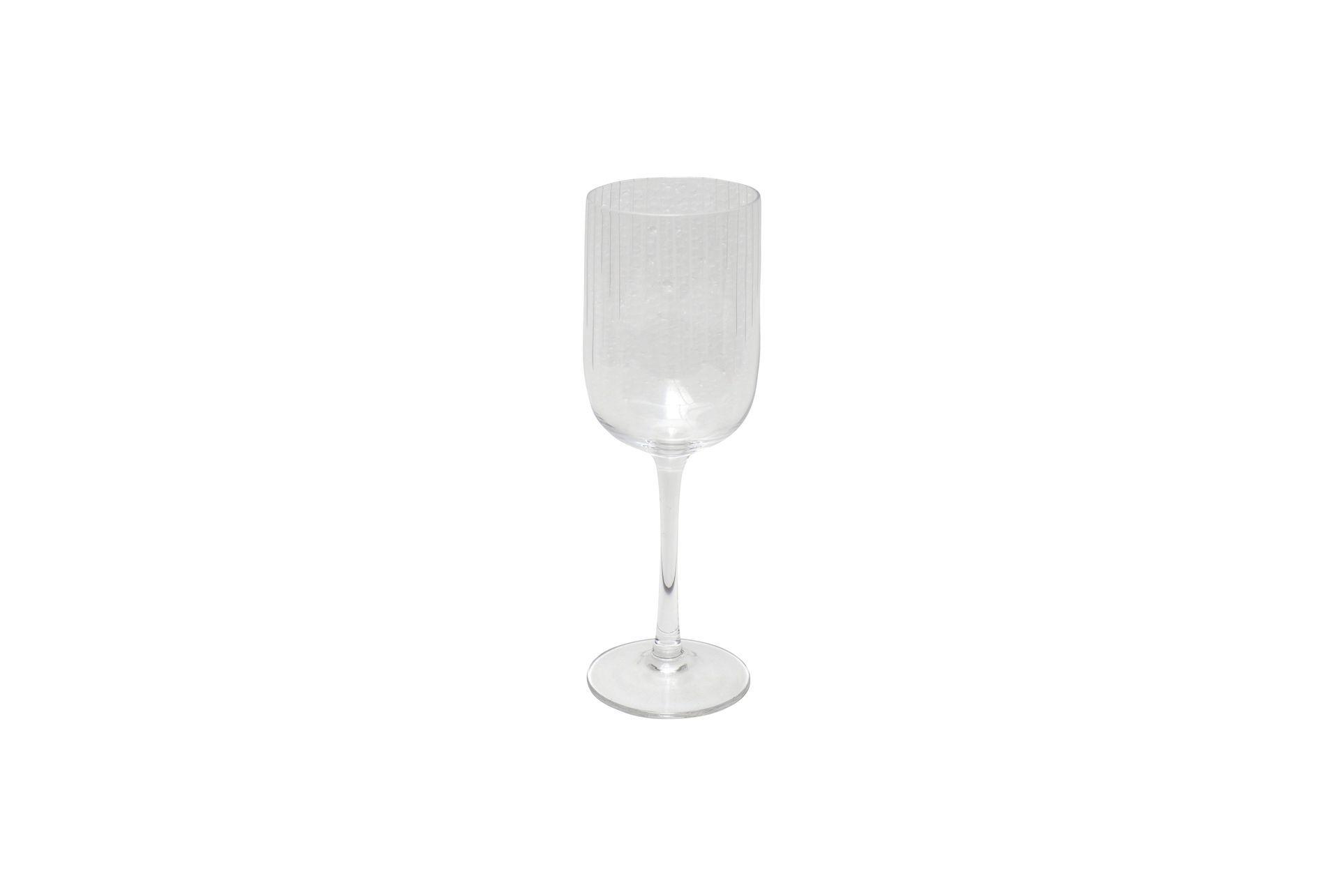 Verre à vin blanc en verre transparent