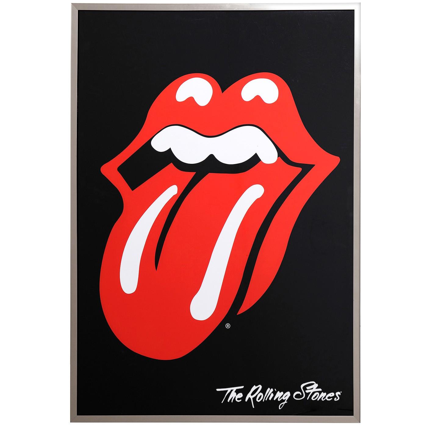 Affiche encadrée groupe de rock 88x123