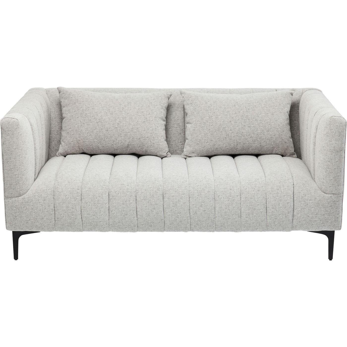 Canapé 2 places en tissu gris