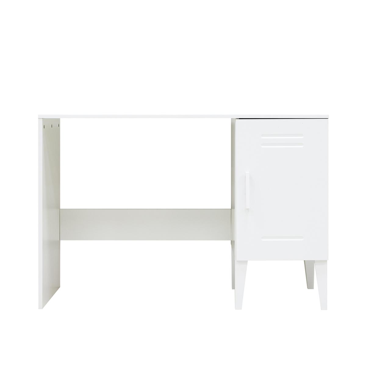 Bureau 1 porte blanc