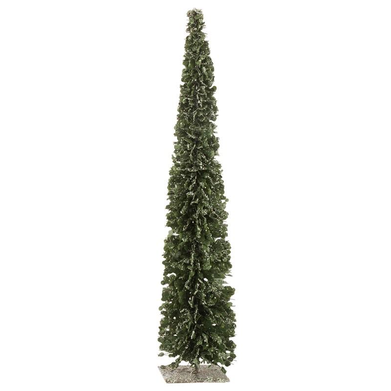 Arbre décoratif neige plastique vert H60cm
