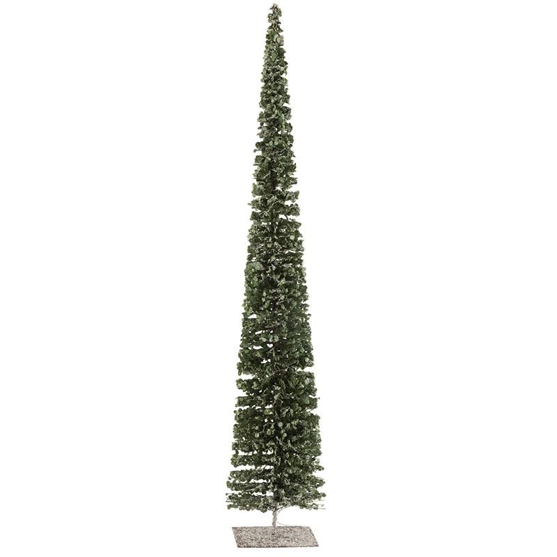 Arbre décoratif neige plastique vert H80cm