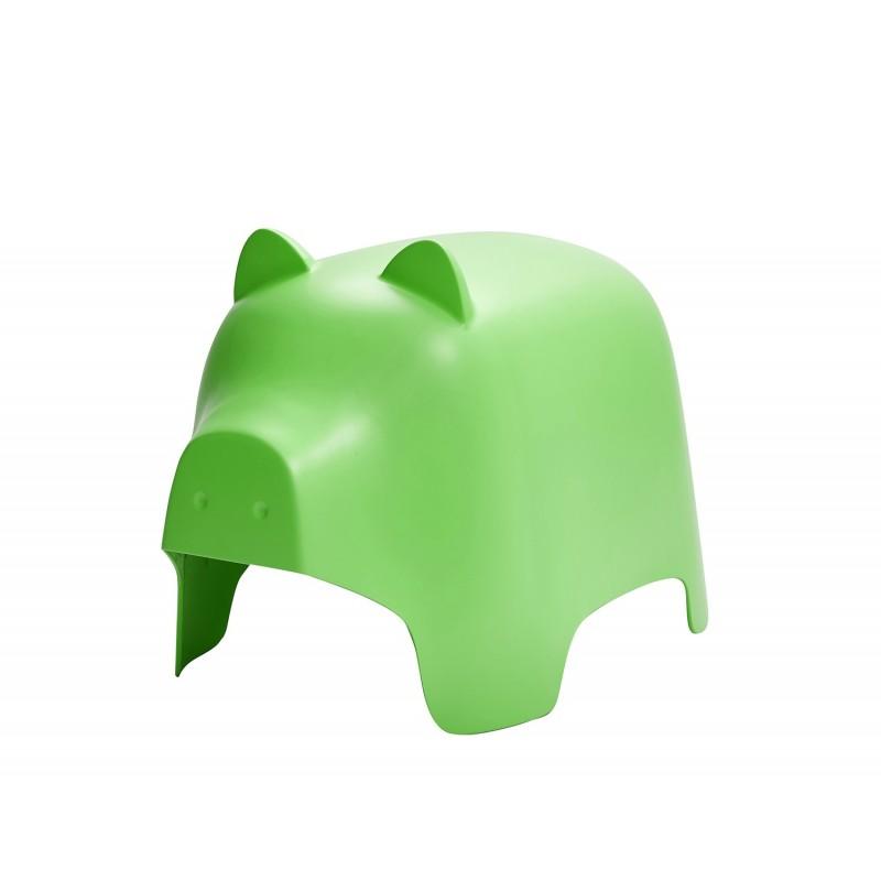 Chaise enfant en plastique vert