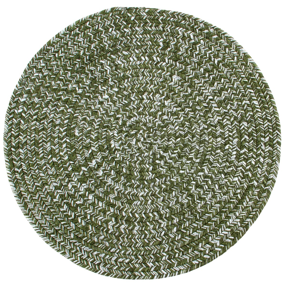 Tapis de salon en Polypropylène Vert olive 120x120 cm