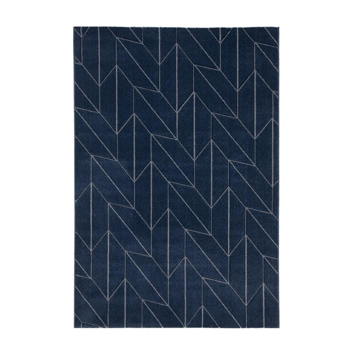 Tapis de salon en Polypropylène Bleu marine 130x190 cm