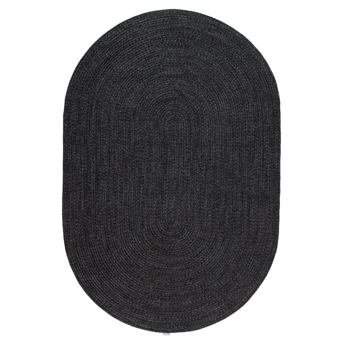 Tapis de salon en Polypropylène Gris anthracite 120x120 cm