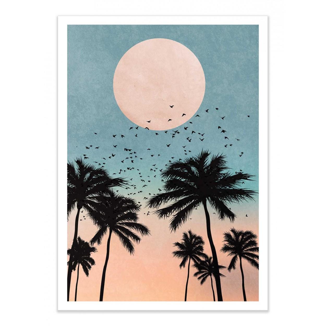 SUNRISE - KUBISTIKA - Affiche d'art 50 x 70 cm