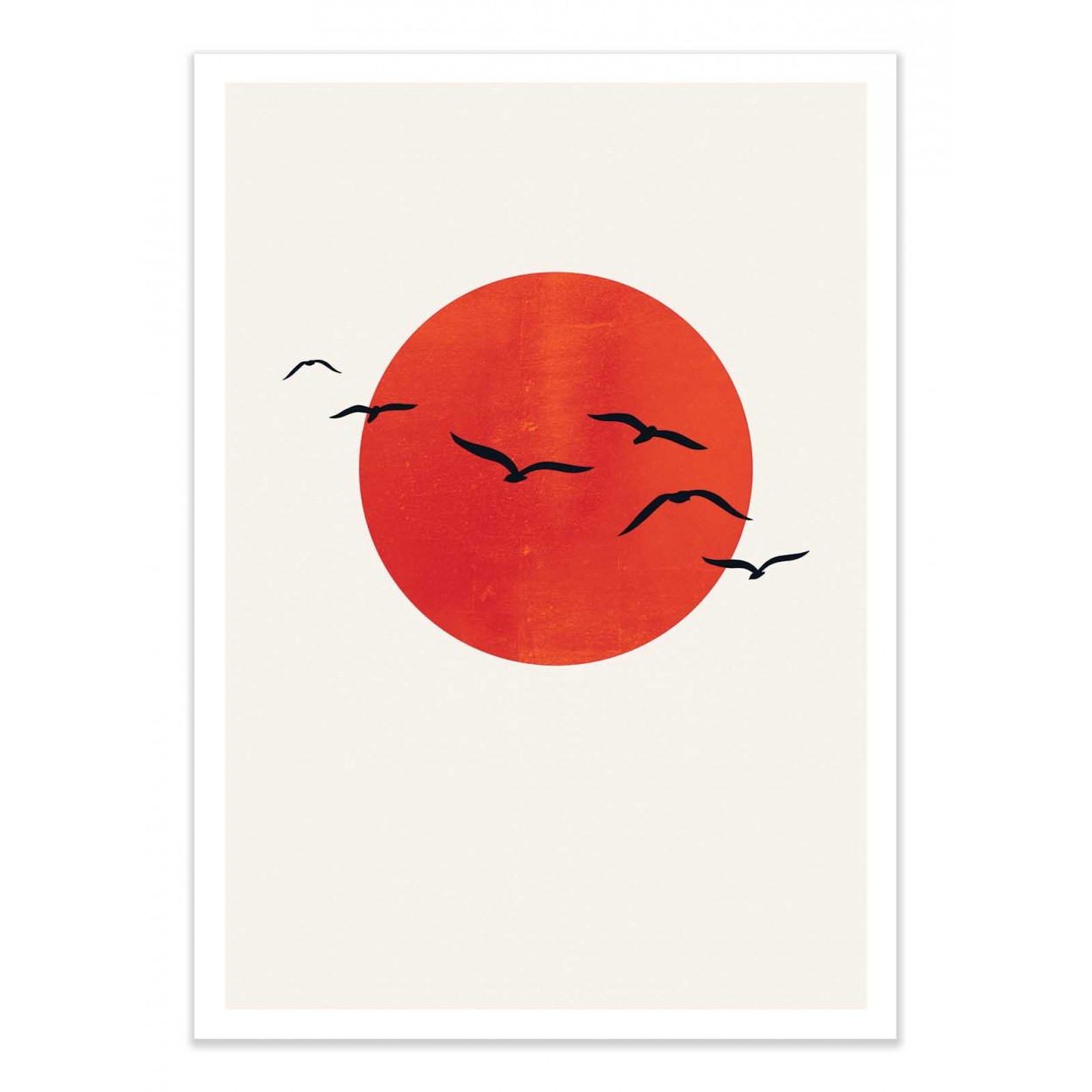 A SUNNY DAY - KUBISTIKA -  Affiche d'art 50 x 70 cm