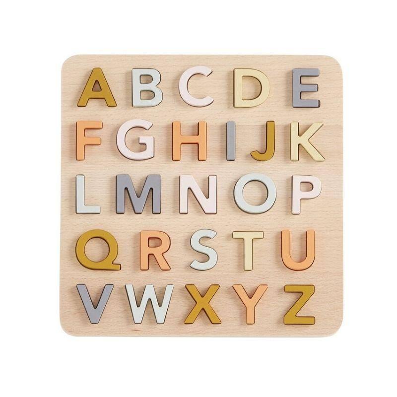 Puzzle alphabet en bois multicolore