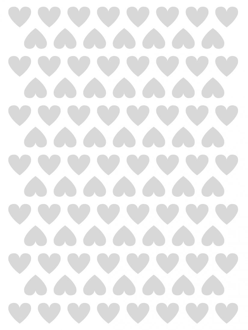 Planche de stickers cœurs gris