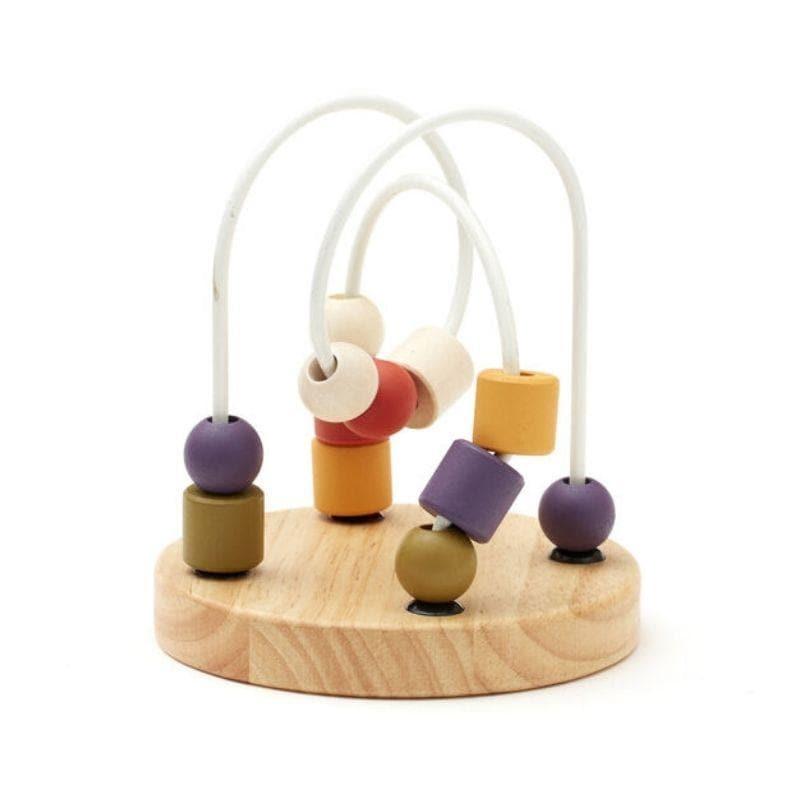 Boulier de perles en bois multicolor