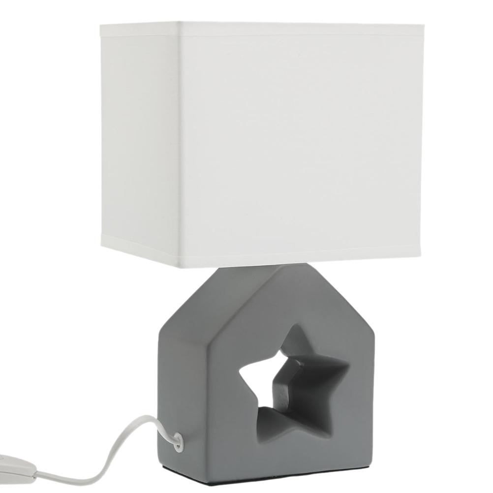 Lampe étoile grise H28cm