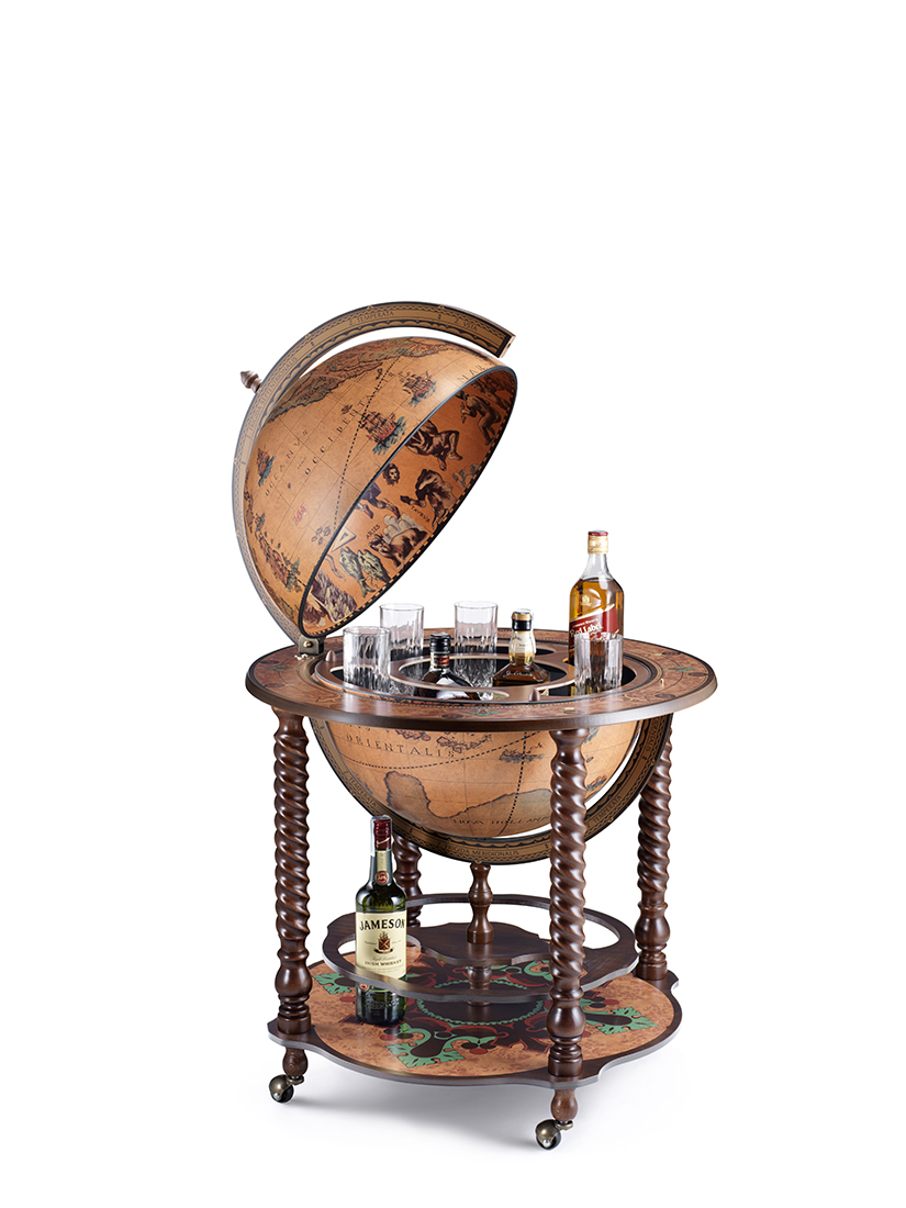 Grand globe bar en style vintage D50cm