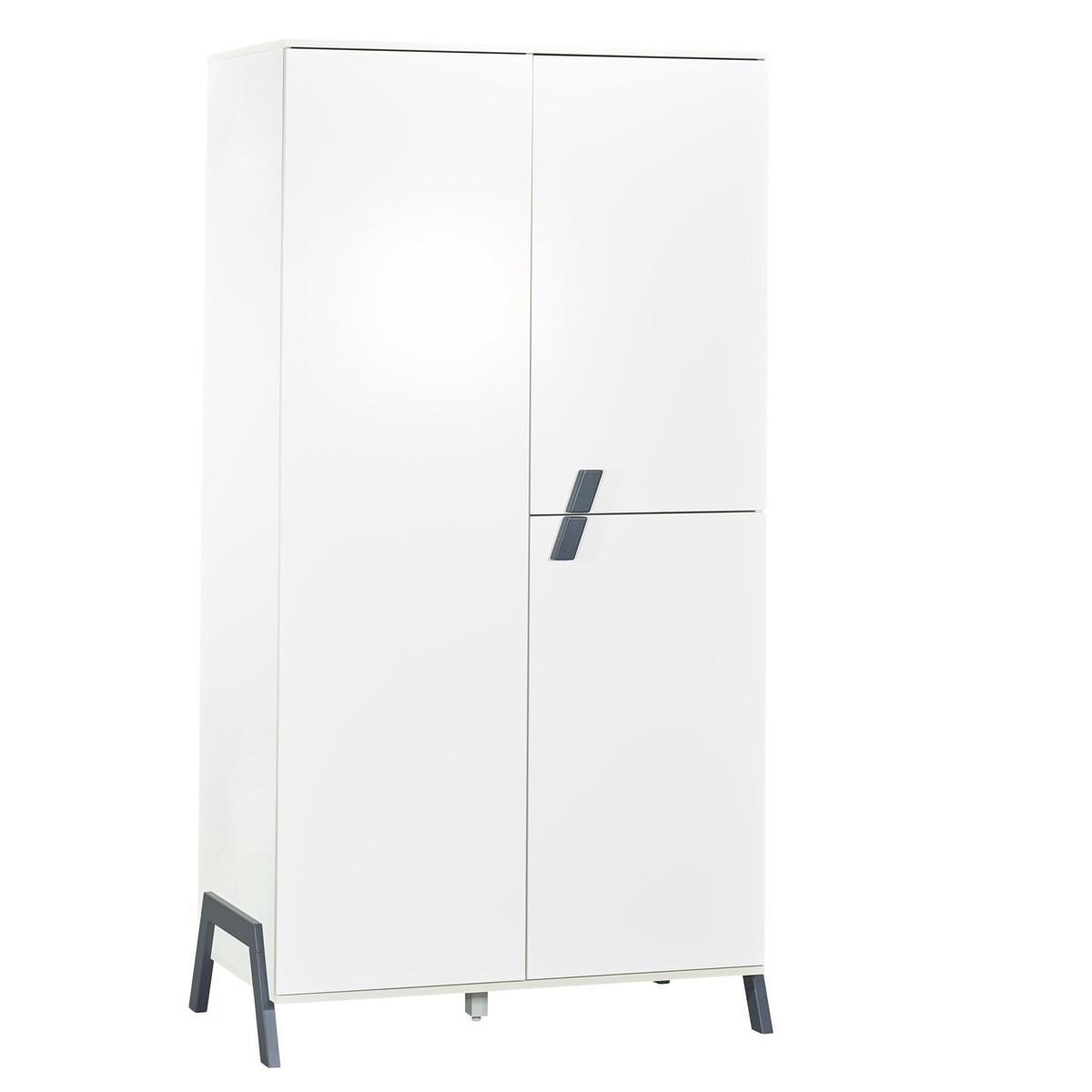 Armoire 3 portes en bois blanc