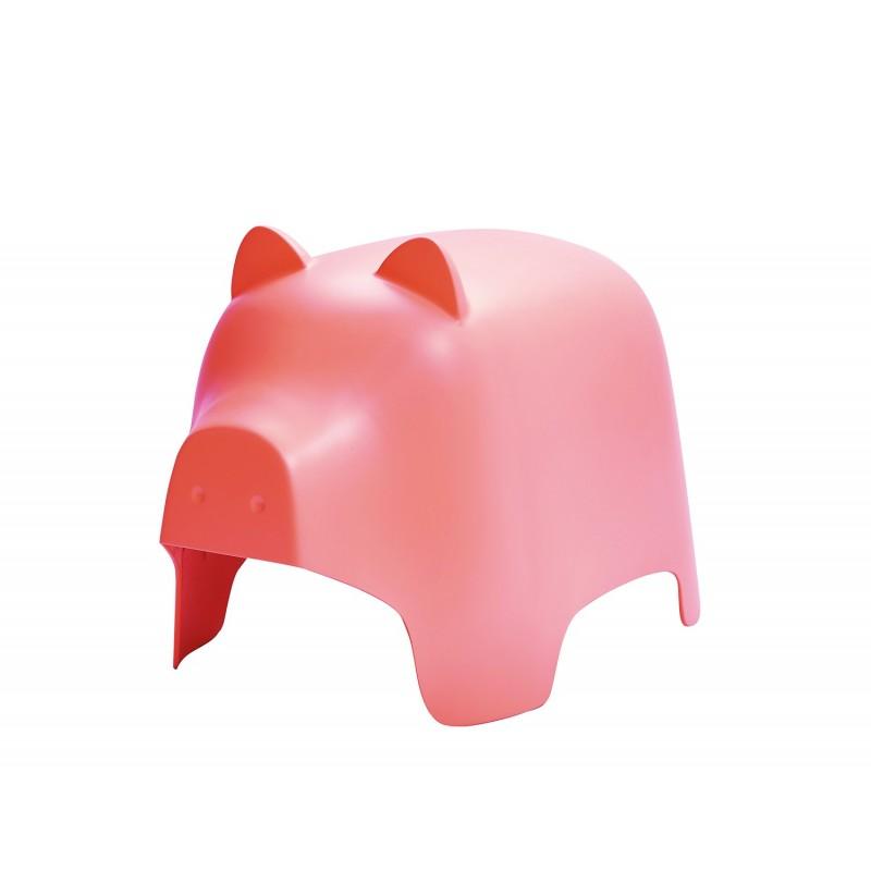 Chaise enfant en plastique rose