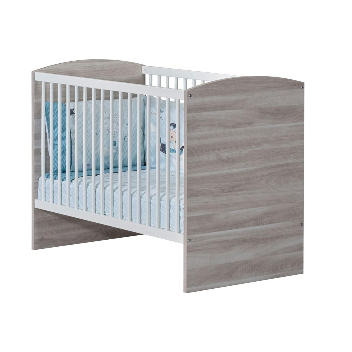 Lit bebe 120x60 en mdf gris foncé